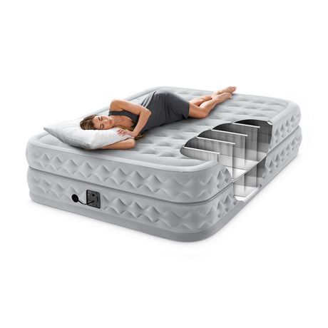 Intex 20in Queen Supreme Air-Flow Airbed with Internal Pump - image 4 of 4