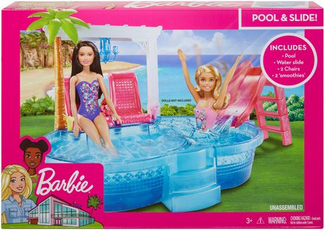 barbie glam pool playset walmart canada