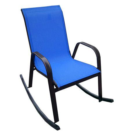 Chaise ber ante henryka en bleu for Chaise bercante walmart