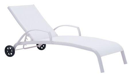 Chaise longue 1 pi ce en textil ne et aluminium pour for Chaise longue pour exterieur