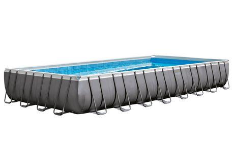 intex above ground pool rectangle. Intex Ultra Frame Rectangular Above Ground Pool With Sand Filter Pump Rectangle N