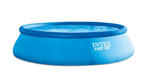 intex easy set above ground pool with filter pump. Black Bedroom Furniture Sets. Home Design Ideas