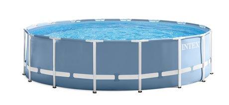 Piscine hors terre cadre prism prism frame d 39 intex avec pompe filtre walmart canada - Container als pool ...