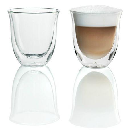 2 verres à cappuccino isothermes De'Longhi à double paroi - image 1 de 4