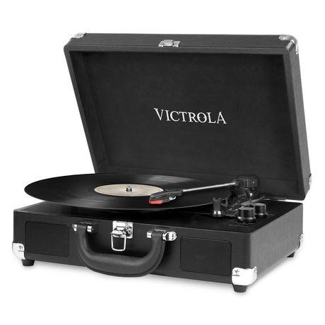 Joueur de disque portatif Victrola à Bluetooth de style vintage nostalgique en forme de valise - image 1 de 2