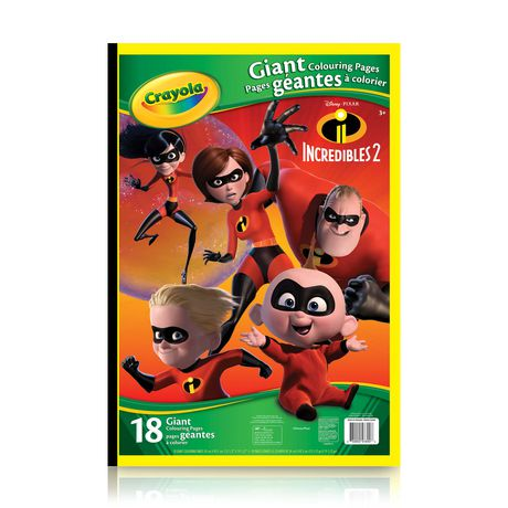 Crayola Giant Colouring Pages, The Incredibles 2 | Walmart Canada