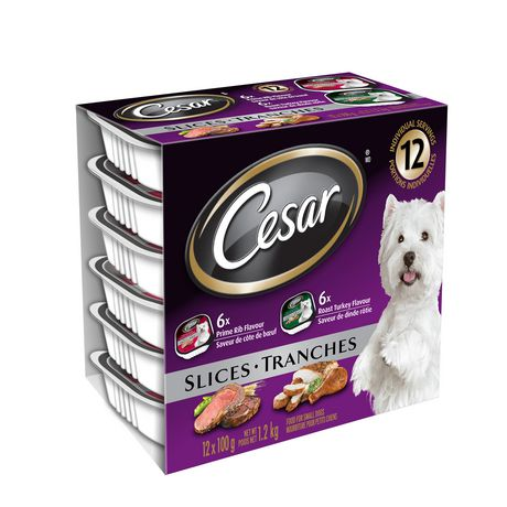CESAR Slices: 6 Roast Turkey Flavour And 6 Prime Rib Flavour 12x100g - image 2 of 5