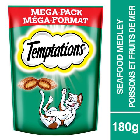 TEMPTATIONS Cat Treats, Seafood Medley Flavour, 180g - image 1 of 4