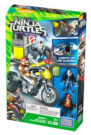 mega bloks teenage mutant ninja turtles bebop moto attack building set walmartca