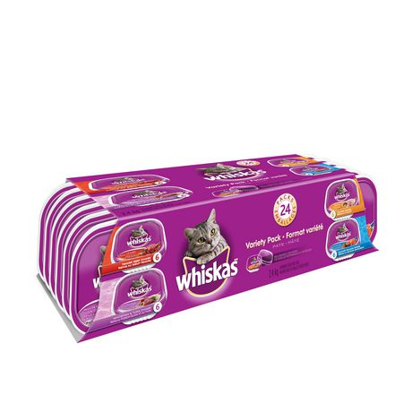 Whiskas Recloseable Wet Food Trays Recloseable Tray 24 Variety Pack - image 2 of 6