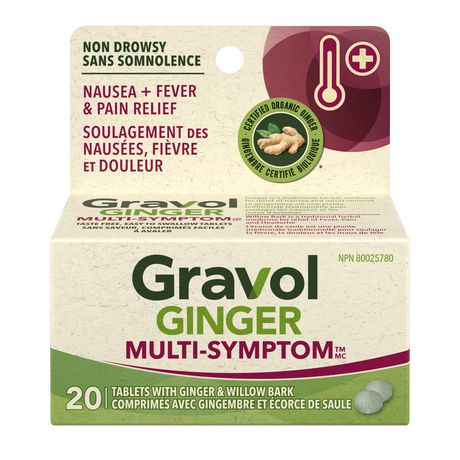 Gravol Ginger Multi-Symptom Cold and Fever Tablets with Willowbark - image 1 of 4