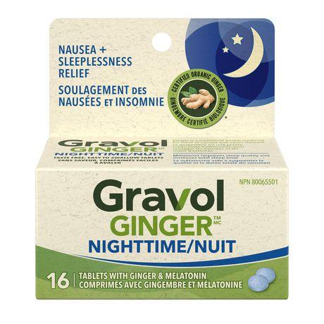 Gravol Ginger Nighttime Tablets with Melatonin - image 1 of 4