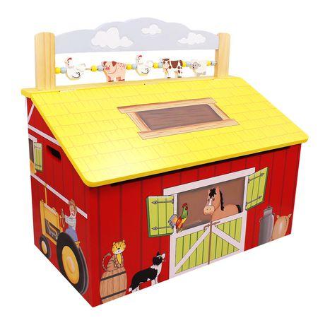 Fantasy Fields Happy Farm Kids Storage Bench - image 1 of 7