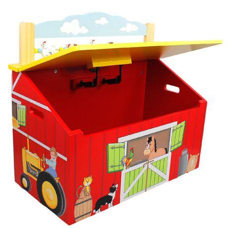 Fantasy Fields Happy Farm Kids Storage Bench - image 3 of 7