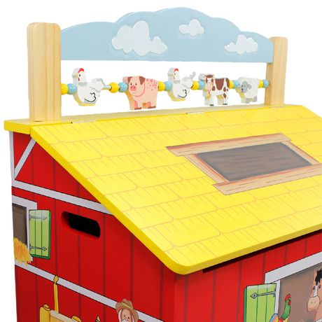 Fantasy Fields Happy Farm Kids Storage Bench - image 4 of 7