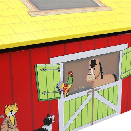 Fantasy Fields Happy Farm Kids Storage Bench - image 6 of 7