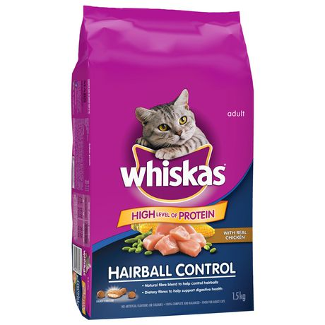 Whiskas Hairball Control with Real Chicken, 1.5kg Dry CAT Food - image 2 of 7