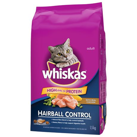 Whiskas Hairball Control with Real Chicken, 1.5kg Dry CAT Food - image 3 of 7