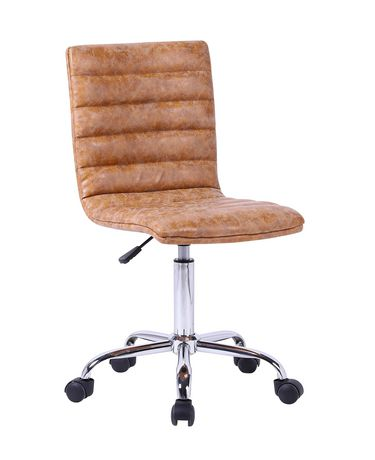 Plata Import Tan Leather Office Chair - image 1 of 3