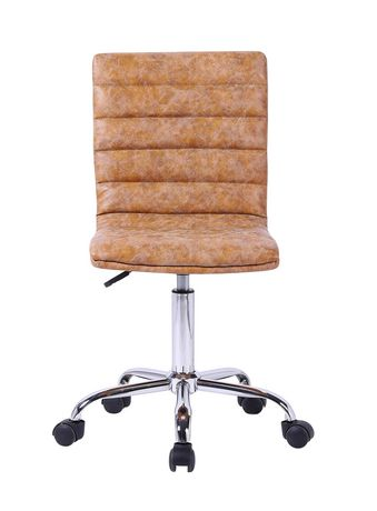 Plata Import Tan Leather Office Chair - image 2 of 3