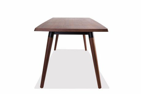 Plata Import Rectangular Copine Table with Walnut Veener - image 2 of 5