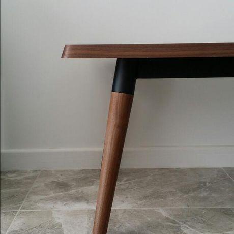 Plata Import Rectangular Copine Table with Walnut Veener - image 4 of 5