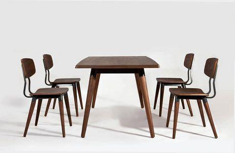 Plata Import Rectangular Copine Table with Walnut Veener - image 5 of 5