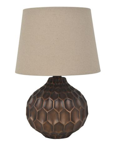 Hometrends bronze faceted table lamp walmart canada mozeypictures Gallery
