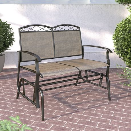 CorLiving Double Glider Speckled Brown Chair - image 1 of 3
