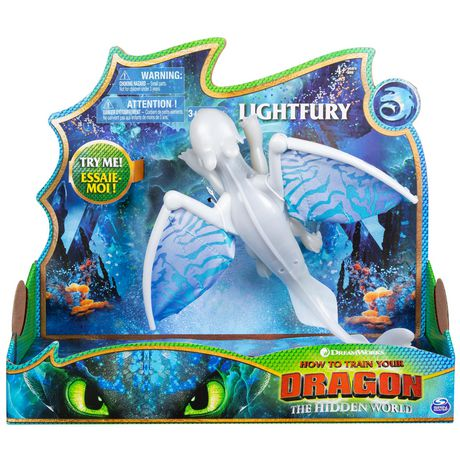 DreamWorks Dragons, Lightfury Deluxe Dragon with Lights and Sounds, for Kids Aged 4 and Up - image 1 of 6