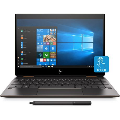 Black HP Spectre laptop with stylus