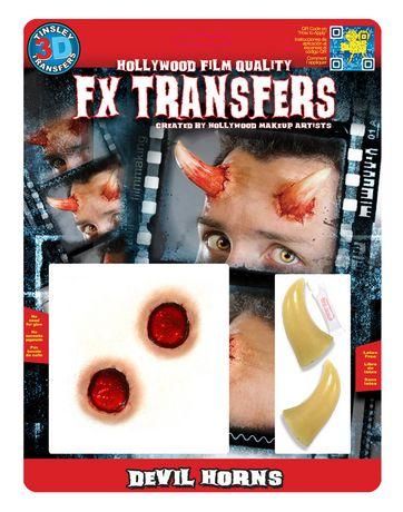 Trousse de maquillage FX Transfer de Generic à effets spéciaux cornes de diable sanglantes - image 1 de 2