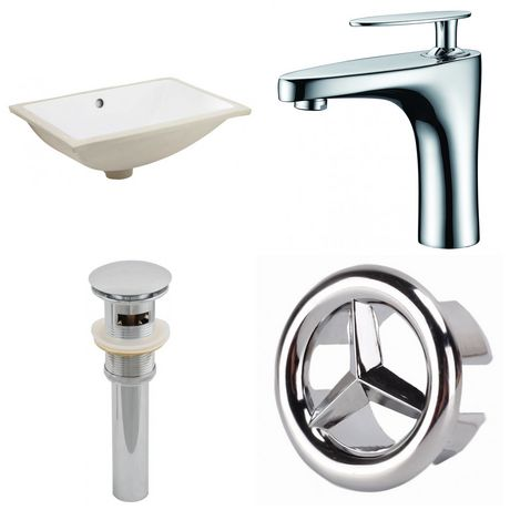 American Imaginations 18.25-in. W Undermount Sink Set White - image 1 of 9