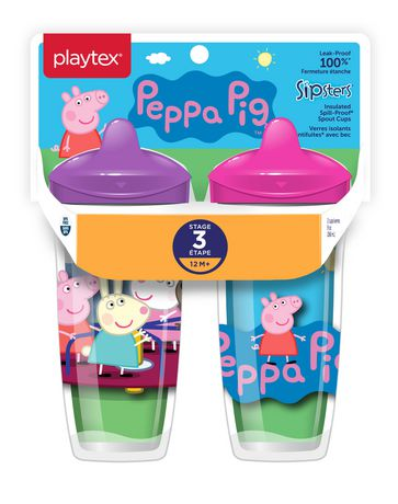 Playtex Baby Sipsters Spill-Proof Peppa Pig Spout Cup, Stage 3 (12+ Months), Pack of 1 Cup - image 2 of 6