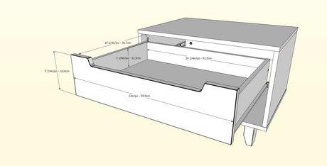 Table de nuit 1 tiroir Nocce de Nexera, Truffe et noir - image 4 de 5