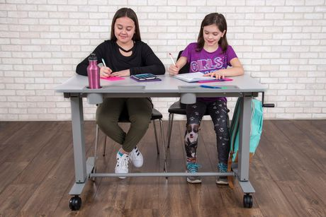 Luxor Two-Student Standing Desk with Crank Handle - image 4 of 9