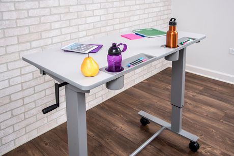 Luxor Two-Student Standing Desk with Crank Handle - image 5 of 9