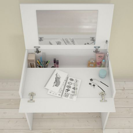 maquilleuse bureau paris de nexera blanc walmart canada. Black Bedroom Furniture Sets. Home Design Ideas