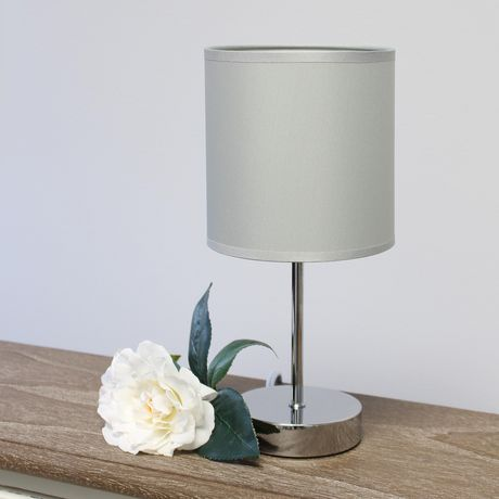 Simple Designs Chrome Mini Basic Table Lamp with Fabric Shade - image 5 of 8