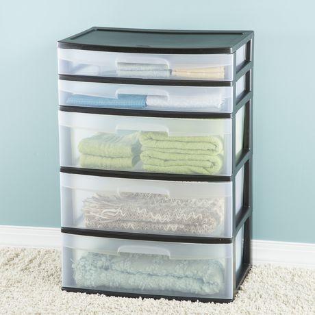 Sterlite drawers medium tall modular drawer with sterlite for Craft plastic sheets walmart