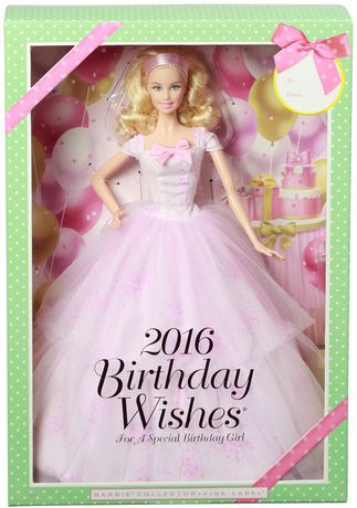 Barbie Birthday Wishes 2016 Barbie Doll - image 5 of 5