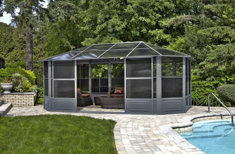 Florence Solarium 12 Ft. x 18 Ft. in Slate - image 2 of 5
