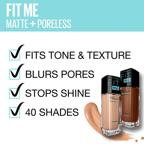 Maybelline New York Fit Me®, Matte + Poreless Liquid Foundation - image 5 of 6