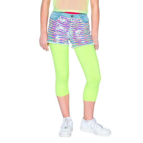 Girls Mini Pop Kids Sequin Shorts - image 1 of 6
