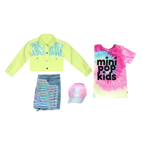 Girls' Mini Pop Kids Shimmer Multi-Colour Tie Die T Shirt - image 7 of 7