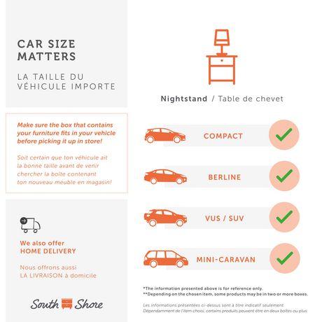 Table de chevet 1 tiroir Fusion Meubles South Shore - image 8 de 8