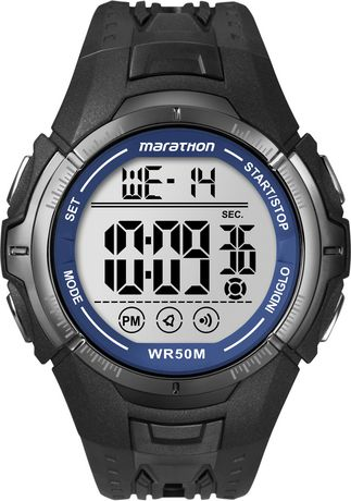 Black watch by Timex with digital time face