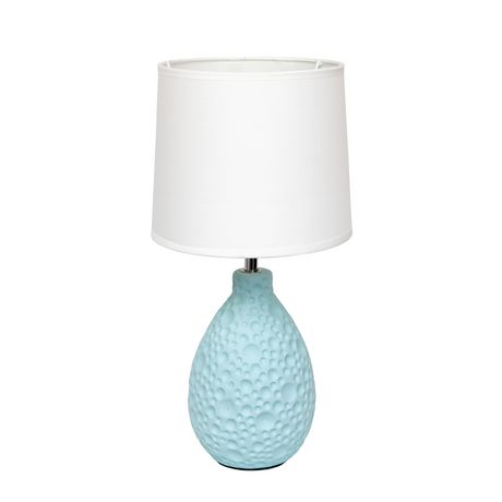 Simple Designs Textured  Stucco Ceramic Oval Table Lamp - image 1 of 4