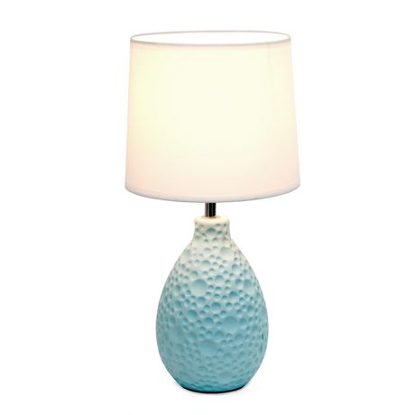 Simple Designs Textured  Stucco Ceramic Oval Table Lamp - image 2 of 4