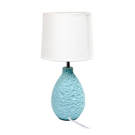 Simple Designs Textured  Stucco Ceramic Oval Table Lamp - image 3 of 4